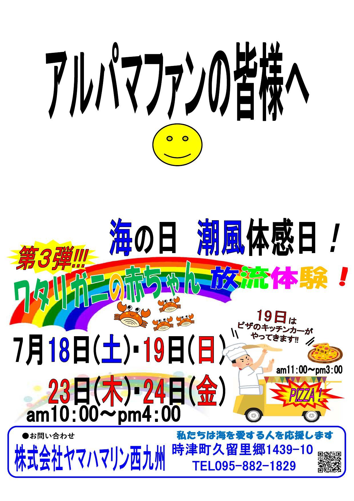 第3弾!!!!! ワタリガニの赤ちゃん!! 放流体験!!!!!